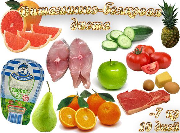 Витаминно белковая диета