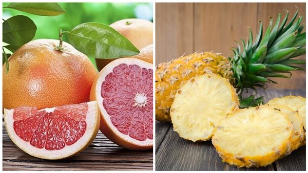 грейпфруты и ананасы
